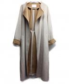 COLLAGE GALLARDAGALANTE(コラージュ ガリャルダガランテ)の古着「ノーカラーコート」|ベージュ