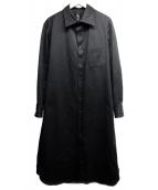 ()の古着「ロングシャツ」|ブラック
