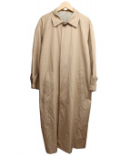 Mila Owen(ミラオーウェン)の古着「ステンカラーイージーロングコート」|ベージュ