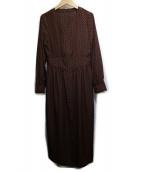 M-premier(エムプルミエ)の古着「デシンプリントワンピース」|ネイビー×ブラウン