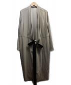 BEIGE(ベイジ)の古着「前縛りノーカラーワンピース」|ベージュ