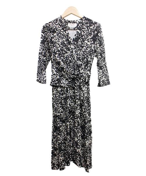 kay me(ケイミー)kay me (ケイミー) ジャージーカシュクールワンピース ブラック サイズ:7の古着・服飾アイテム