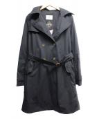 AIGLE(エーグル)の古着「フーデットトレンチコート」|ブラック