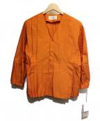 AEWEN MATOPH(イウエン マトフ)の古着「カラータックブラウス」 オレンジ