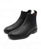 BOEMOS(ボエモス)の古着「サイドゴアショートブーツ」 ブラック