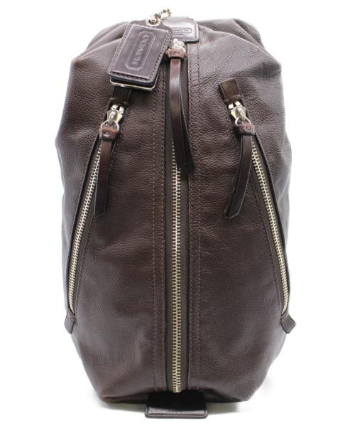 COACH(コーチ)COACH (コーチ) レザースリングバッグ ブラウン 70360の古着・服飾アイテム