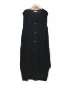 GALERIE VIE(ギャルリーヴィー)の古着「コットンノースリーブワンピース」|ブラック