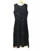 CELFORD(セルフォード)の古着「フラワーJQニットワンピース」|ブラック