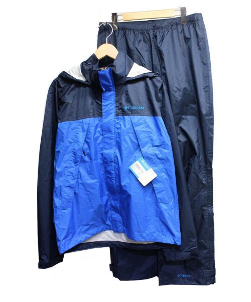 Columbia(コロンビア)Columbia (コロンビア) シンプソンサンクチュアリレインスーツ ブルー サイズ:L 未使用品 SIMPSON SANCTUARY RAINSUITの古着・服飾アイテム