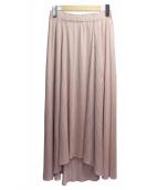 PLEATS PLEASE(プリーツプリーズ)の古着「プリーツマキシスカート」 ピンク