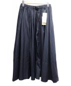 GRAMICCI(グラミチ)の古着「ギャバ ロング スカート」 ネイビー