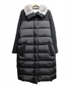Kaon(カオン)の古着「ロングダウンコート」|ブラック