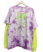 ()の古着「ダブルスリーブタイダイロングスリーブTシャツ」|パープル