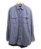 45R(フォーティファイブアール)の古着「ヒッコリーストライプシャツ」|ブルー