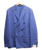 L.B.M.1911(エルビーエム1911)の古着「コットンリネンダブルブレストジャケット」 ブルー
