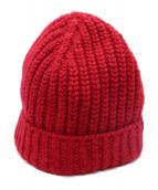 MARNI(マルニ)の古着「ローゲージニット帽」|レッド