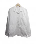 SEEALL(シーオール)の古着「オープンカラーシャツジャケット」 ホワイト