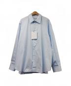 Hed Mayner(ヘド メイナー)の古着「オープンバックシャツ」|ブルー