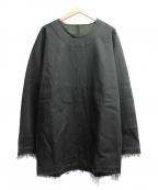 YANTOR(ヤントル)の古着「デニムカットオフロングプルオーバー」 ブラック