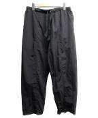 comfy(コンフィー)の古着「サイドジップナイロンパンツ」 ブラック