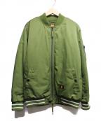 UNDEFEATED(アンディフィーテッド)の古着「MA-1ジャケット」|グリーン