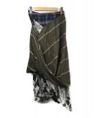 Vivienne Westwood(ヴィヴィアンウエストウッド)の古着「変形切替デザインスカート」|オリーブ