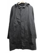 TILAK(ティラック)の古着「ベンタイルコットンフーデッドステンカラーコート」|ブラック