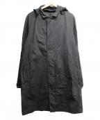 tilak(ティラック)の古着「ベンタイルコットンフーデッドステンカラーコート」 ブラック