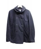 Engineered Garments(エンジニアドガーメンツ)の古着「メルトンショールカラーPコート」|ネイビー