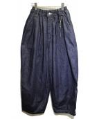 HARVESTY(ハーベスティ)の古着「デニムサーカスパンツ」|インディゴ