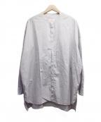 GALLEGO DESPORTES(ギャレゴデスポート)の古着「バンドカラーストライプシャツ」|ホワイト