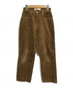 GOLDEN GOOSE(ゴールデングース)の古着「コーデュロイパンツ」|ブラウン