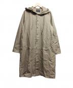 OURET(オーレット)の古着「フィールドロングシャツ -C/Rギャバドライクロス」|ブラウン
