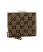 GUCCI(グッチ)の古着「2つ折り財布」|ベージュ