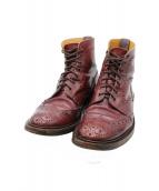 Trickers(トリッカーズ)の古着「モールトン カントリーブーツ」|レッドブラウン