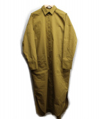 LE PHIL(ル フィル)の古着「ブリーズコットンシャツワンピース」|ベージュ