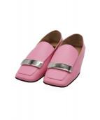 sergio rossi(セルジオロッシ)の古着「アイレットローファー」|ピンク