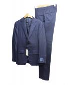 TOMORROW LAND(トゥモローランド)の古着「ウールサージ2Bセットアップスーツ」|ネイビー