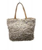 VALENTINO GARAVANI(ヴァレンティノガラヴァーニ)の古着「スパンコール装飾ハンドバッグ」 アイボリー