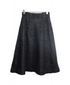 DOROTHEE SCHUMACHER(ドロシーシューマッハ)の古着「モヘヤ混フレアスカート」|ブラック