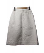 IRENE(アイレネ)の古着「コットンリネンタイトスカート」|ホワイト