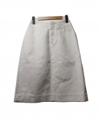 IRENE(アイレネ)の古着「コットンリネンタイトスカート」 ホワイト