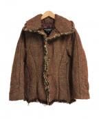 JUNYA WATANABE CdG(ジュンヤワタナベコムデギャルソン)の古着「ツイード中綿ジャケット」|レッド×ブラウン