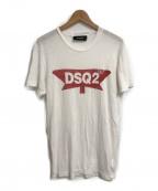DSQUARED2(ディースクエアード)の古着「ロゴプリントTシャツ」|ホワイト