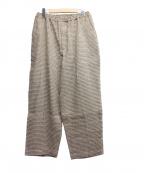 SEEALL(シーオール)の古着「ELASTIC PANTS」|ブラウン