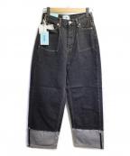SERGE de bleu(サージ デ ブルー)の古着「ワイドデニムパンツ」|インディゴ