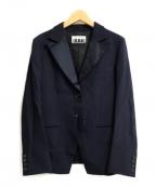 ISSEY MIYAKE FETE(イッセイミヤケフェット)の古着「2Bジャケット」 ネイビー