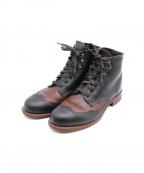 WOLVERINE(ウルヴァリン)の古着「ウィングチップブーツ」|ブラック