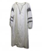 sara mallika(サラマリカ)の古着「刺繍シャツワンピース」|ホワイト
