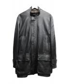 LANVIN COLLECTION(ランバンコレクション)の古着「シープレザージャケット」|ブラック